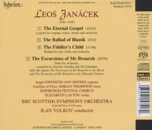 Janacek: The Eternal Gospel by HYPERION