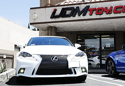 iJDMTOY Lexus F-Sport 15W High Power Projector LED Fog Light Kit For 2014-2016 Lexus IS200t IS250 IS300 IS350, 6000K Xenon White by iJDMTOY (Image #3)