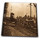 3dRose db_16207_2 1920S Ford Service Truck and Tractors Sepia-Memory Book, 12 by 12-Inch
