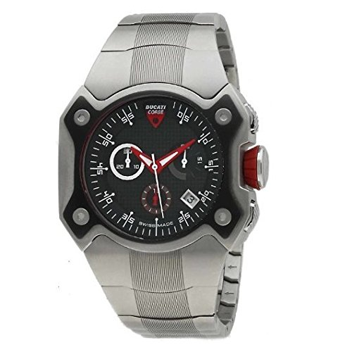 Amazon.com: Ducati Corse CW0016 Gents Chronograph Titanium Case & Bracelet Watch: Watches