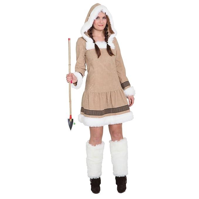 Disfraz de esquimal para mujer corto - patrón de costura ...