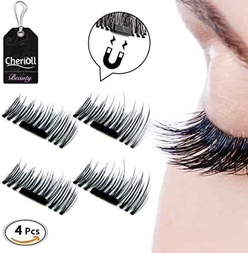 3D Magnetic False Eyelashes,Handmade Eyelashes Fake Eyelashes,0.2mm Ultra-thin 3D Fiber for Natural Look
