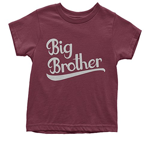 Youth Big Brother T-Shirt Medium Maroon (Only Youth T-shirt Medium)