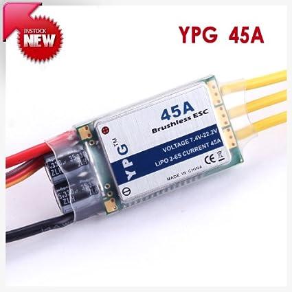 Amazon.com: YPG 45 A ESC (2 ~ 6S) SBEC driver de velocidad ...