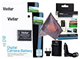 2 Pack Vivitar EN-EL19 Ultra High Capacity Rechargeable 1000mAh Li-ion Batteries + AC/DC Vivitar Rapid Travel Charger + Microfiber Lens Cleaning Cloth for NIKON Coolpix (Nikon EN-EL19 Replacement)