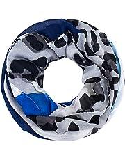 Faera Leoparden-Muster weicher und leichter Damen Sommer-Schal Loopschal Rundschal in verschiedenen Farben
