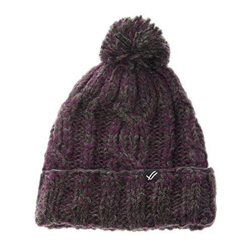 William Rast Women's Cable Knit Hat O/S Charcoal/Wine ()