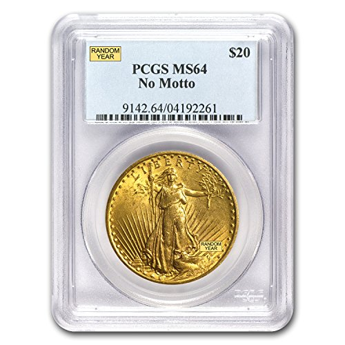 1907 – 1933 $20 Saint-Gaudens Gold Double Eagle MS-64 PCGS G$20 MS-64 PCGS