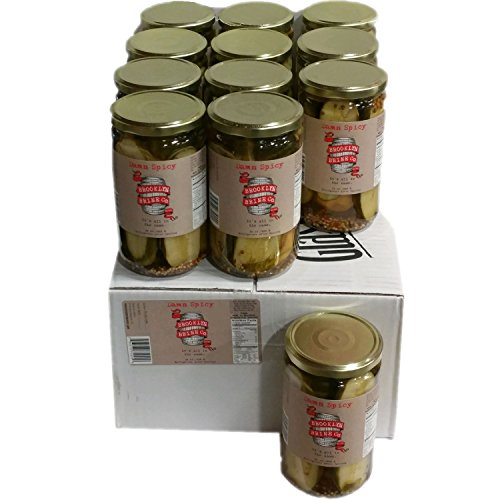 Brooklyn Brine Pickles- Damn Spicy- Case Packed 24 Oz Jars by Brooklyn Brine