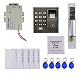 Fenteer Home Entry Control System Kit with 5 RFID Card Keyfob Electric Bolt Doorlock
