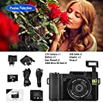 Digital-Camera-Vlogging-Camera-30MP-27K-Full-HD-Compact-Camera-with-180-Degree-Flip-Screen-Mini-Camera-with-32GB-Memory-Card-2-Batteries