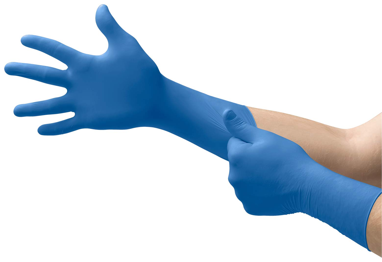 ANSELL MICROFLEX SAFEGRIP Powder-Free Extended Cuff Latex EXAM Gloves