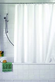Sabichi Solid Shower Curtain White