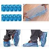 100Pcs/lot Elastic Disposable Plastic Shoe Covers Waterproof Rain Boot Carpet Clean Hospital Overshoes