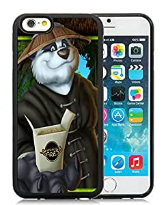 Popular Designed Case With Panda Express Cover Case For iPhone 6 4.7 Inch TPU Black Phone Case CR-480