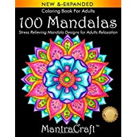 Coloring Book For Adults: 100 Mandalas: Stress Relieving Mandala Designs for Adults Relaxation