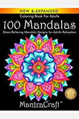 Coloring Book For Adults: 100 Mandalas: Stress Relieving Mandala Designs for Adults Relaxation Paperback
