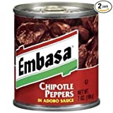 Embasa Chipotle Peppers in Adobo Sauce 7 Oz (Pack of 6)