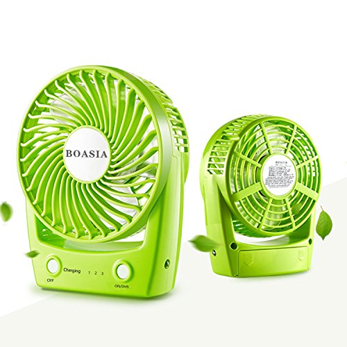 Battery Operated Fan, Personal Handheld Fan, Portable Mini Fan, USB Charging or 2200mAh Rechargeable Battery Operated, Personal Cooling for Home, Office, Traveling and Camping