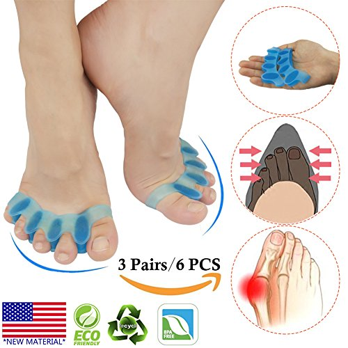 Bunion Corrector  Toe Separator  Bunion Relief Protectors  New Material  Gel   Silicone Hammer Toe Straightener  Toe Spacers  Toe Stretchers  For Men And Women  Fight Bunions  Hammer Toes   More
