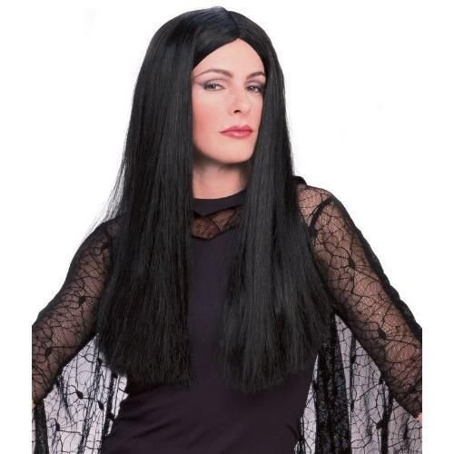 The Addams Family Morticia Addams Deluxe Long Black Wig