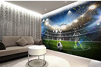 Wh Porp 3d Sport Feld Wall Decor 3d Fussball Tapete Fur Wande