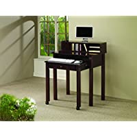 Coaster Transitional Cappuccino Writing Desk