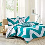 Better Homes And Garden 5 Piece Aqua Chevron Comforter Set