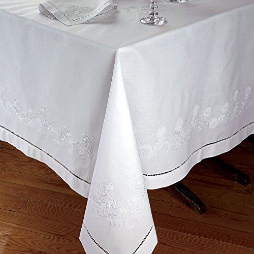 Duchess Napkins, White on White (1 Dozen) by Schweitzer Linen