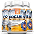 BRI Nutrition Focus5 - Focus Formula - Brain Function Booster Supplement - 90 Veggie Capsules each, 3-Pack - With Vitamins, Minerals, Herbs and Nootropics