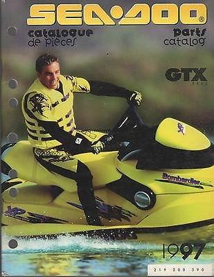 1997 SEA DOO WATERCRAFT GTX PARTS MANUAL P/N 219 300 390 (749)