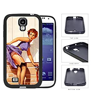 Pin Up Model Water Tease Pose Rubber Silicone TPU Cell Phone Case Samsung Galaxy S4 SIV I9500