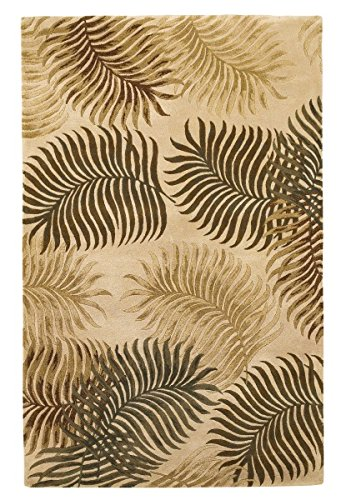 Wool Tropical Floral Area Rug - KAS Oriental Rugs Havana Collection Fern View Area Rug, 3'3
