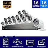 Samsung Wisenet SDH-C75101-16 16 channel 1080P HD DVR Video Security System with 2TB Hard Drive and 16 SDC-9443BC Cameras