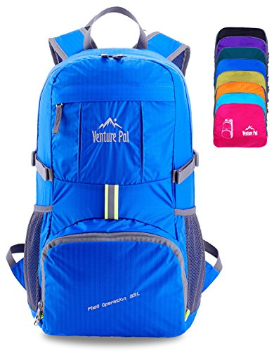 Venture Pal Lightweight Packable Durable Travel Hiking Backpack Daypack (Royal Blue) ...