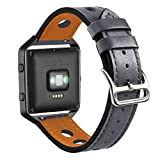 for Fitbit Blaze Leather Bands, UNEXTATI® Adjustable Sport Replacement Wristband for Fitbit Blaze