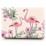 Laptop Case Animal Pattern Plastic Case Hard Shell Case for MacBook Air 13-inch Model A1932(2018 Release) with Keyboard Skin Cover and Screen Protector (Flamingo 5)