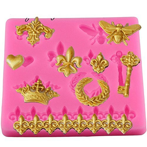 Cake Border Silicone Molds, Butterfly Crown shape Relief Cupcake Fondant Cake Decorating Tools, Gumpaste Chocolate Baking Mat Mould, Gumpaste Chocolate Candy Bakeware Pan Kitchen Baking Supplies