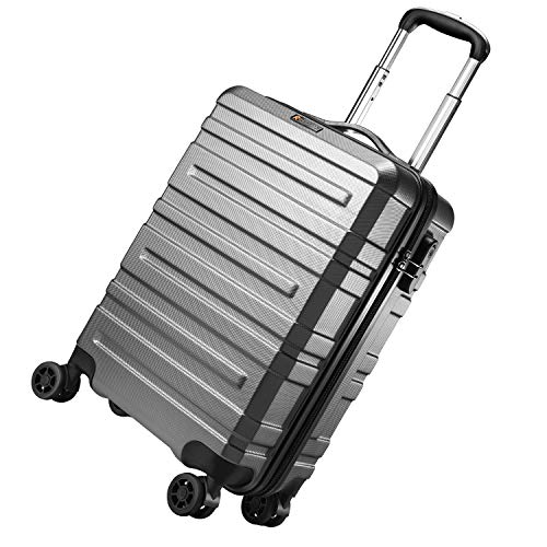 REYLEO Hand Luggage Suitcase Hard Shell Cabin Carry on Luggage Super Lightweight Dual Wheel Lifetime Warranty Approved…