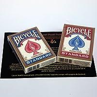 SOLOMAGIA 2 (due) Mazzi di Carte Bicycle Poker Regolari Standard - Rosso e Blu