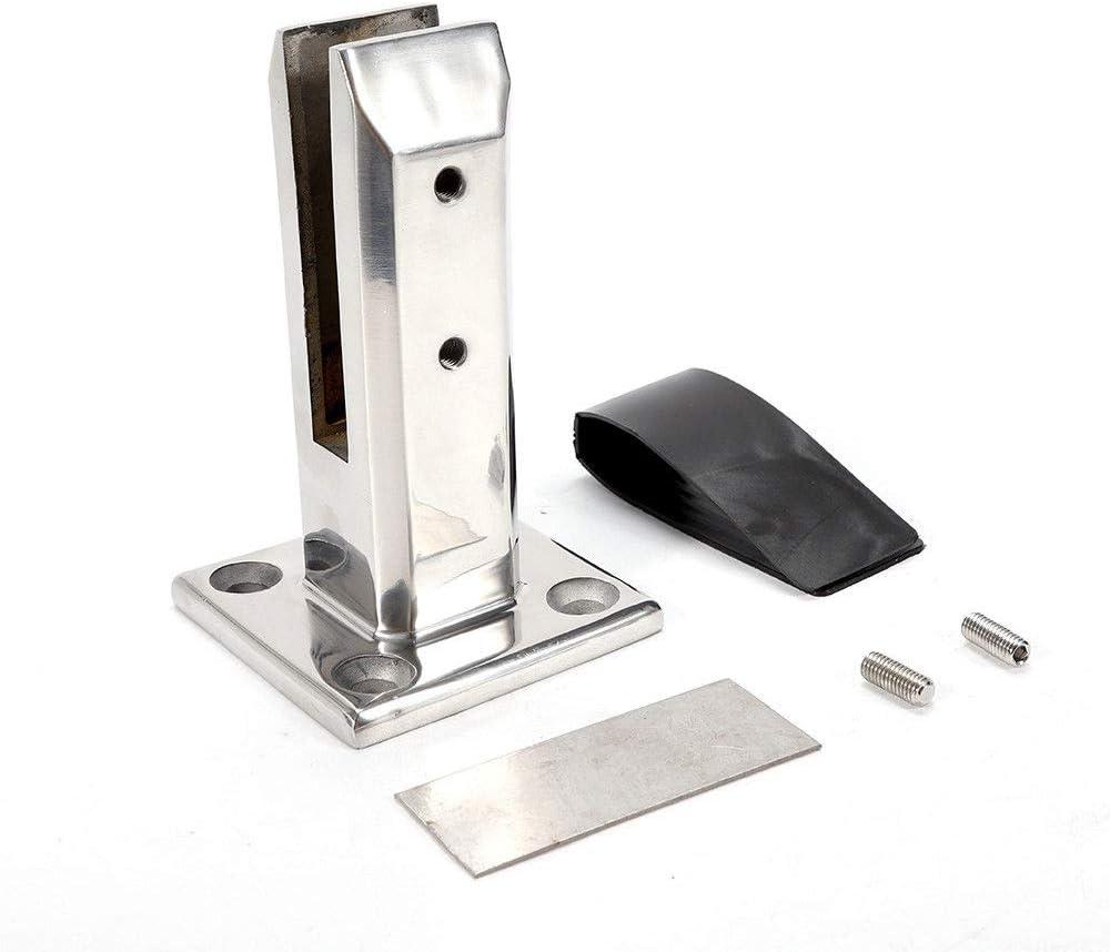 24x Porte-verre en acier inoxydable Pince Pince à verre Support pour garde corps