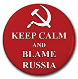 YOU ARE BUYING (6) BUTTONS TO SHARE WITH YOUR FAMILY AND FRIENDS! Hey everybody! has something terrible gone wrong in your life and it could be your fault? Well then just blame Russia! Why not!?! The Democrats do! Make your friends and family laugh w...