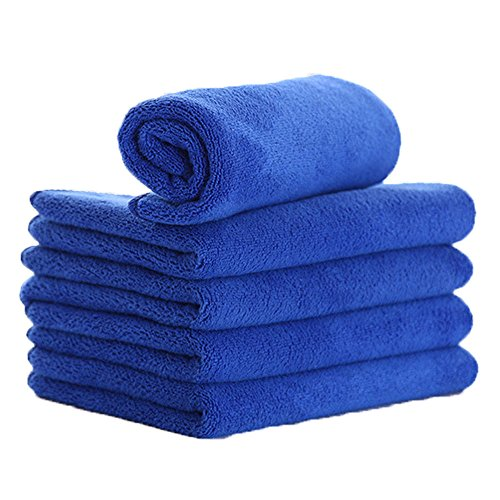 "ZYTC Microfiber Cleaning Cloths (12"" x 28"") Microfiber Cloths Towels for Home, Kitchen,Car Wash Towels (Pack of 5,Blue)"