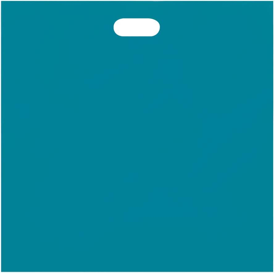 Teal Low Density Merchandise Bag 15 X 18 X 4 Inches Box of 500