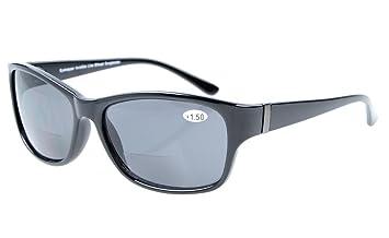 Eyekepper Bi-Focal sunshine readers Moda Bifocal Gafas de sol Marco Negro/gris lente +1.00