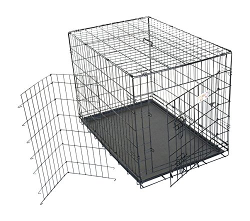 36 inch Single Door Folding Dog Crate By Majestic Pet Products Medium Cocker Spaniel Dog Breed Kennel