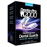 DentaPro2000 Teeth Grinding Mouth Guard – Eliminates Grinding, Clenching, TMJ – Set Includes 3 Dental Guards, 1 Anti-Bacterial Case & Complete Molding & Fitting Instructions – 2017 Edition