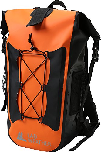 LAD WEATHER] Waterproof/Water Repellent Backpack Roll Top Lightweight Tarpaulin Sports Outdoor Travel 40L Dry Bag