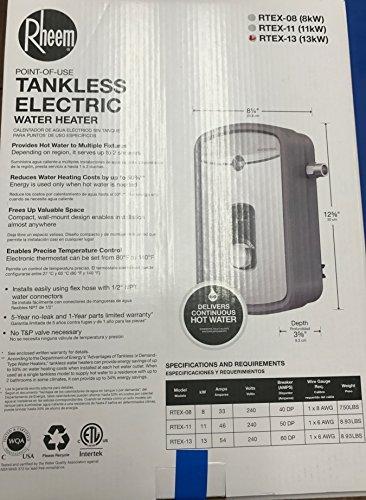 Rheem RTEX-13 240V Heating Chamber Residential Tankless Water Heater