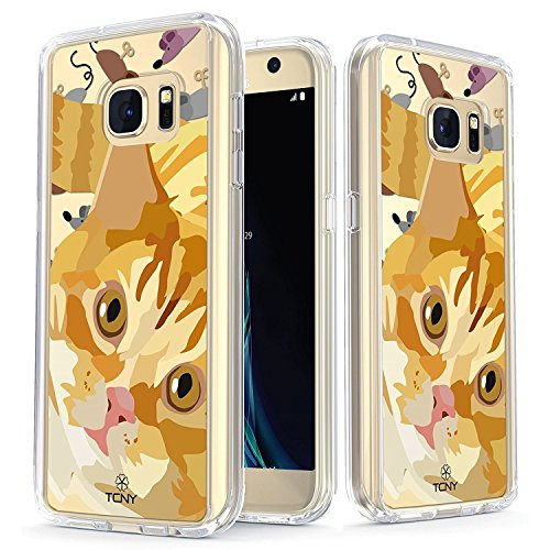 Samsung Galaxy S7 Case - True Color Clear-Shield Bengal Cat My Lovely Pet Collection Printed on Clear Back - Soft and Hard Thin Shock Absorbing Dustproof Full Protection Bumper Cover